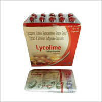 Lycopene Lutein Betacarotene Grape Seed Extract And Minerals Softgelatin Capsule