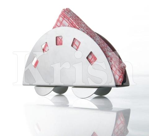 Designed Round Napkin Holder With Base