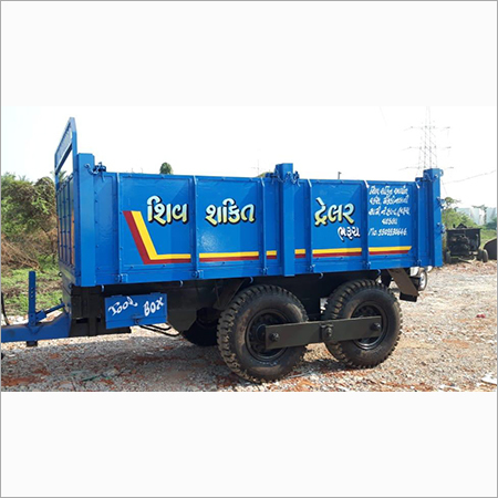 4 WHEEL TRAILER HYDRAULIC(WOOD BODY)