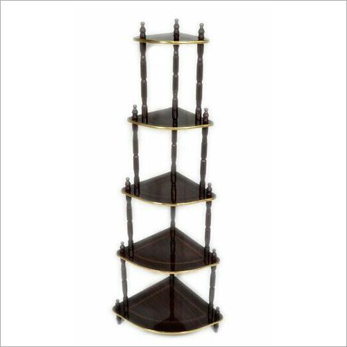 5 Shelf Wooden Corner Stand