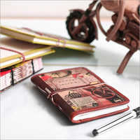 Full Grain Leather Printed Diary