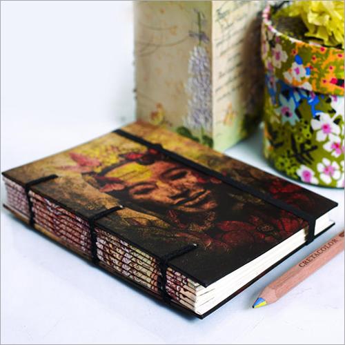 Buddha Print Binding Diary