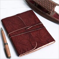 Crushed Leather Roll Diary
