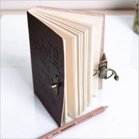 Vintage Leather Diary With Metal Lock