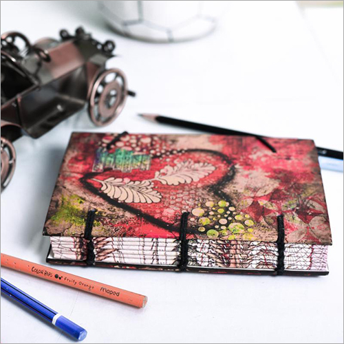 Flower Print Special Binding Diary