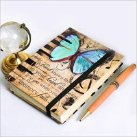 Butterfly Print Cover Diary