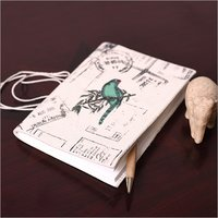 Parrot Canvas Fabric Printed Diary