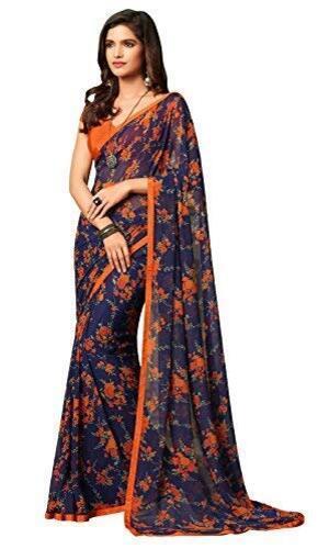Floral Print Designer Sarees