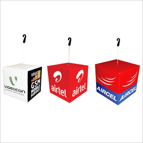 Advertising Cube Dangler