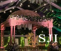Triple Pole Wood Mandap