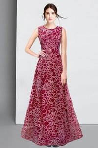 Stone maroon gown