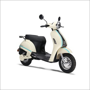 White & Black Electric Scooter