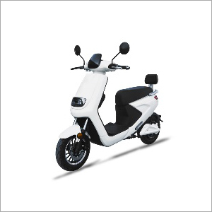 Battery Operated White Scooter