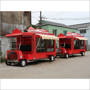 Electric Red Food Truck