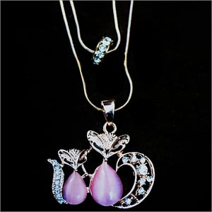 Double Chain With Double Pendant