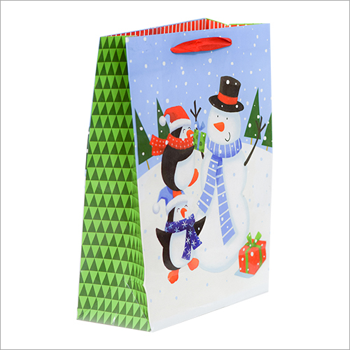 Printed Gift Paper Christmas Bag