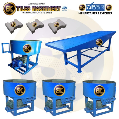 Manual Interlocking tiles making machine