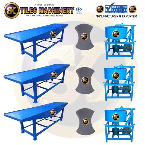 Semi Automatic Interlocking tiles making machine