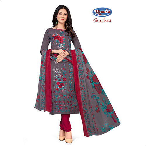 Ladies Printed Churidar Suit