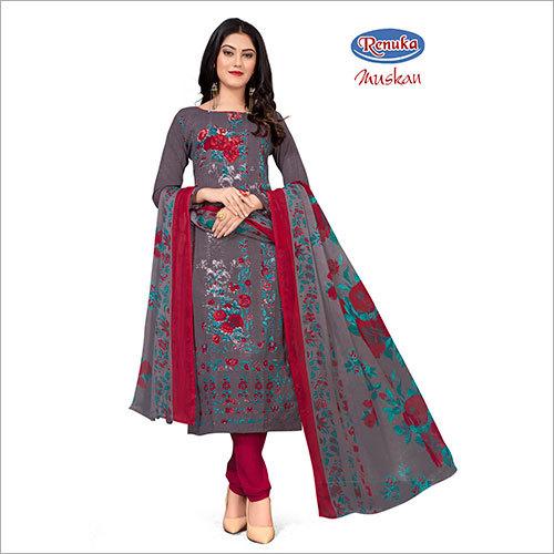 Ladies Printed Churidar Suit