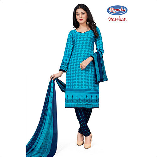 Casual Printed Churidar Suit
