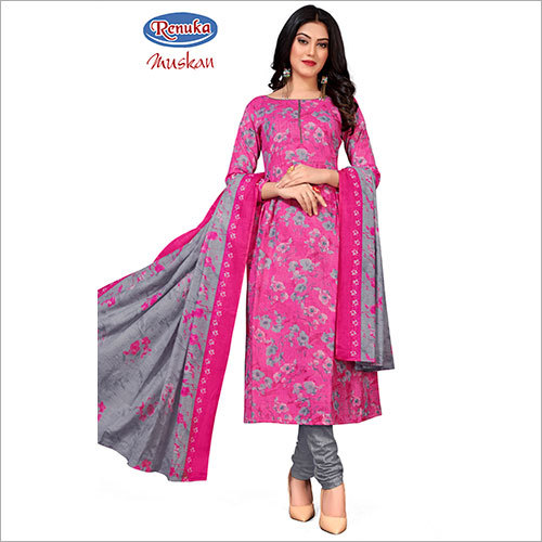 Synthetic Fabric Churidar Suit