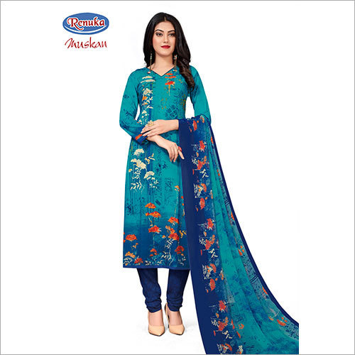 Floral Printed Churidar Suit