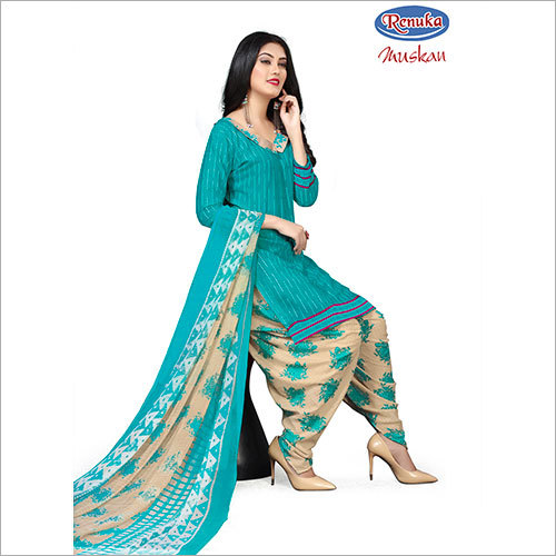 Ladies Stylish Printed Patiala Suit