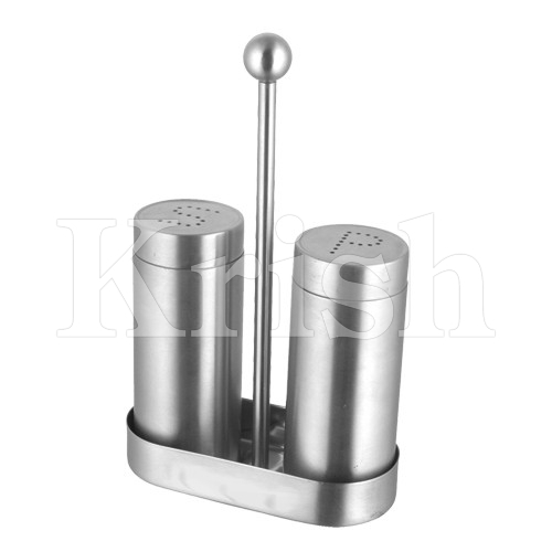 Tall Salt & Pepper With Stand