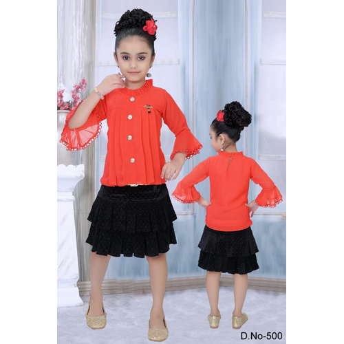 Girls Skirt With Top Set