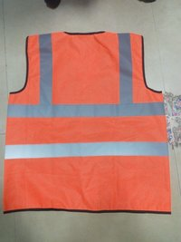 Metro Safety Jacket Double Reflective Tape in Foot ball net fabric