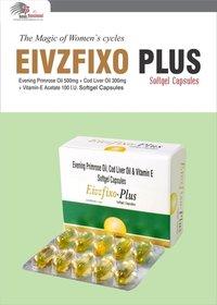 Omega 3 Fatty Acid 90mg +Cod Liver Oil 300mg + Evening Primrose Oil 300mg+Vitamin E Acetate 10mg