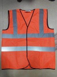 Metro Safety Jacket Double reflective Tape Plane fabric
