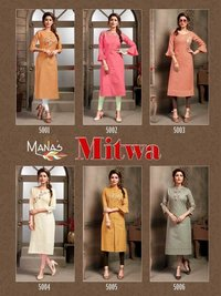 COTTON ZARI LONG KURTI