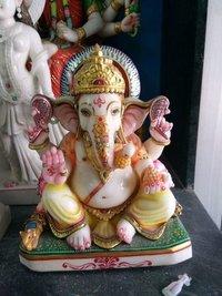 Lord Ganesha Marble Statue