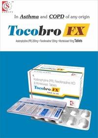 Acebrofyline 200mg + Fexofenadine 120mg + Montelukast 10mg
