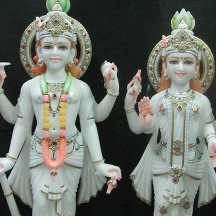 Marble Laxmi Narayan Marble Statue