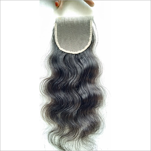 Transparent Swiss Lace Curly Closure 18 inch