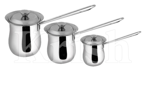 Coffee Warmer with Lid & SS Wire Handle - 3 Pcs