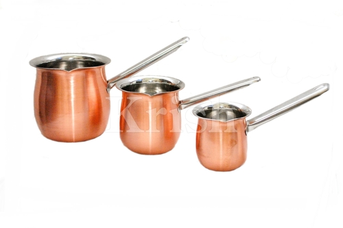 Full Copper Coffee Warmer with SS Handle 3 Pcs