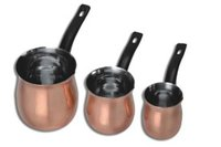 Full Copper Coffee Warmer With Bakelite Handle - 3 Pcs