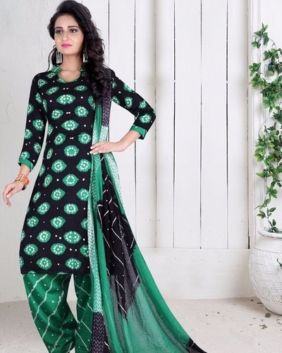 latest bandhani dress material