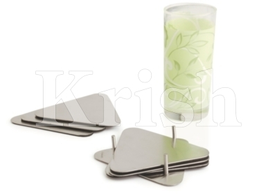 Triangular Coaster With Stand - 6 pcs