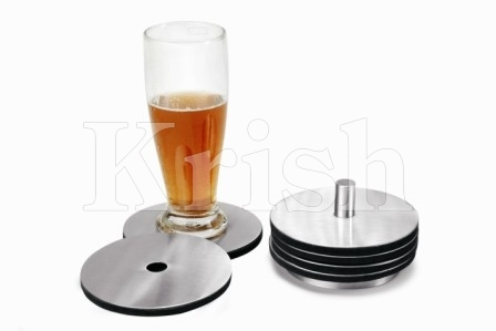 Disc Coaster With Stand - 6 Pcs