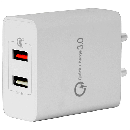 Dual Port USB Smart Charger with Quick Charge