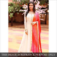 Heavy Cotton Anarkali Long Suit