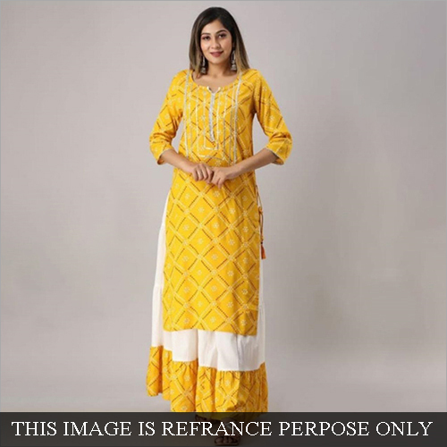 Ladies Rayon Sharara Suit