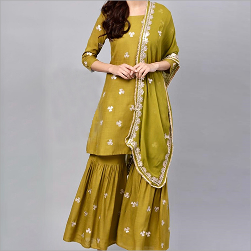 Heavy Rayon Sharara Suit