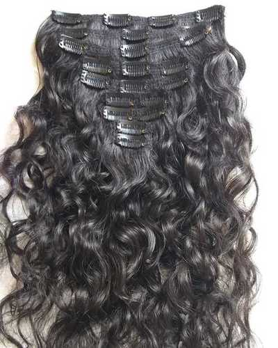 100% indian human hair remy ,Natural raw clip in hair extensions