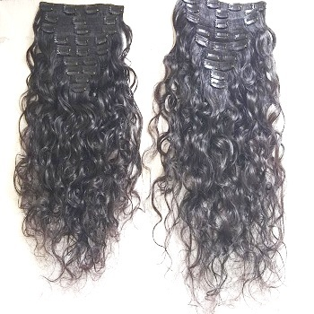 Indian Curly Clip  In Curly Hair